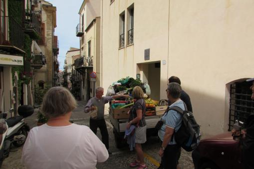 Fruit and Vegetable Vendor in Cefalù