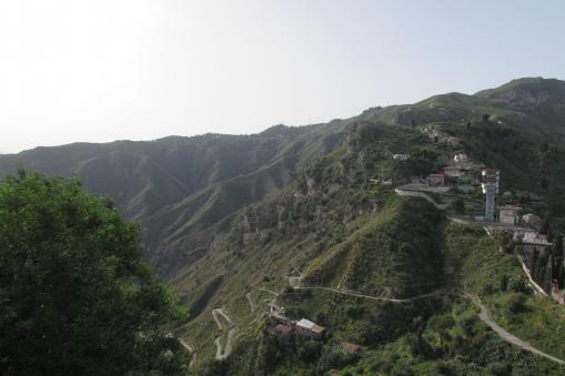 Road to Castelmola, Sicily